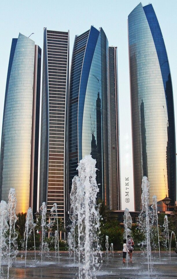 Abu dhabi eithad towers , photography