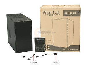 Fractal Design Define R4 Black Pearl w/ USB 3.0 ATX Mid Tower Silent PC Computer Case