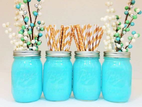 Best tiffany blue centerpieces ideas on pinterest