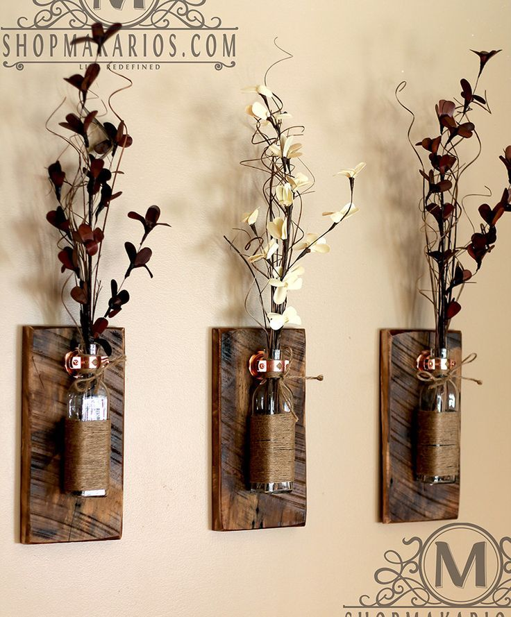 Shop Makarios Rustic Wall Sconces - Reclaimed Wood Wall Sconces