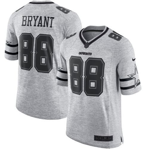 5643293893a ... Nike Cowboys Dez Bryant Gray Mens Stitched NFL Limited Gridiron Gray II  Jersey And Broncos Demaryius Mens Dallas Cowboys 88 ...