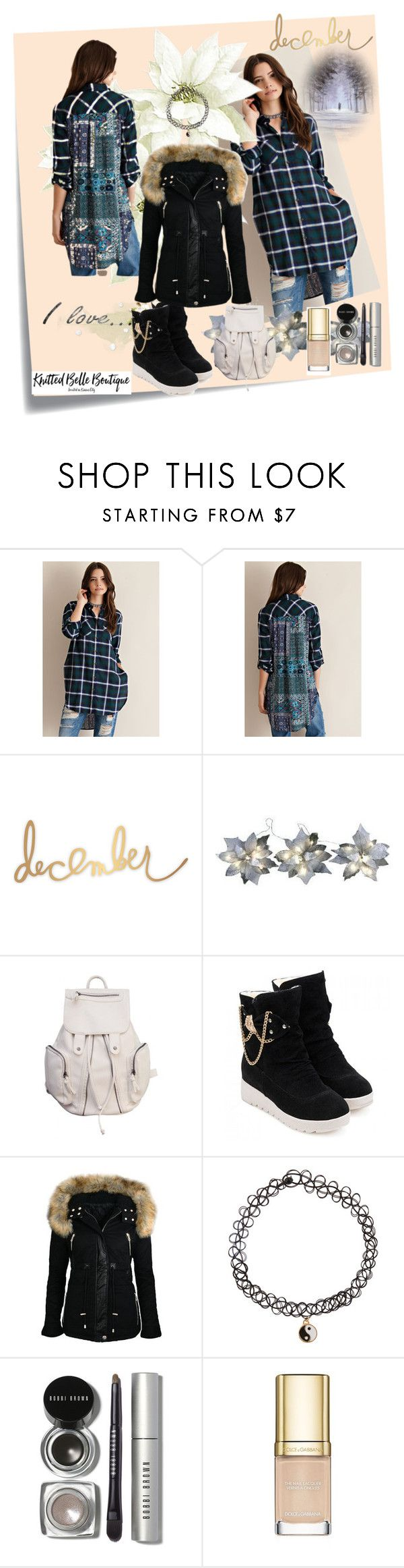 """""""Knitted Belle Boutique # 7"""" by zijadaahmetovic ❤ liked on Polyvore featuring Post-It, Accessorize, Bobbi Brown Cosmetics and Dolce&Gabbana"""