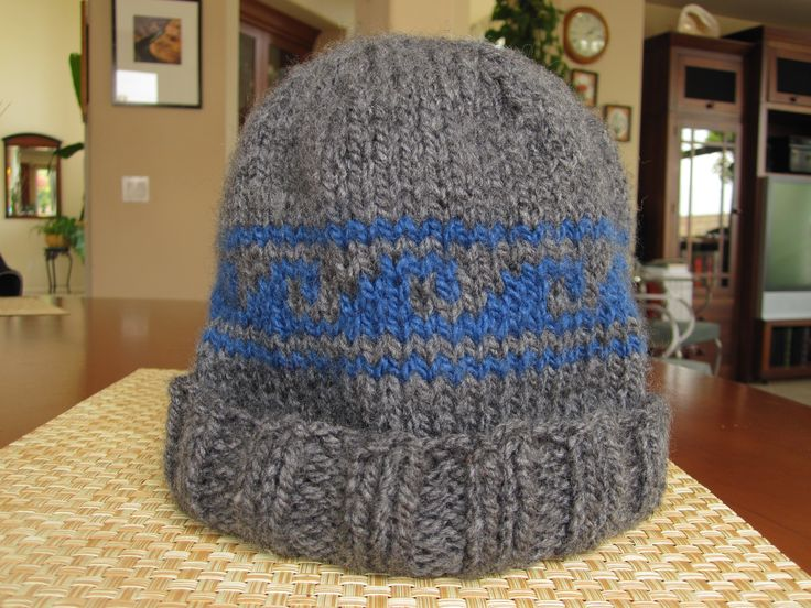 Beanie with wave pattern