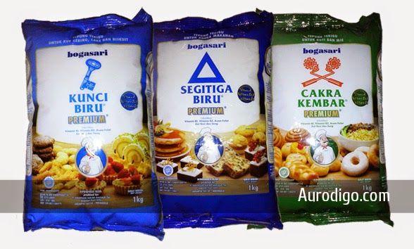 Tepung Terigu Protein Rendah, Sedang, dan Tinggi Merek Bogasari | Aurodigo