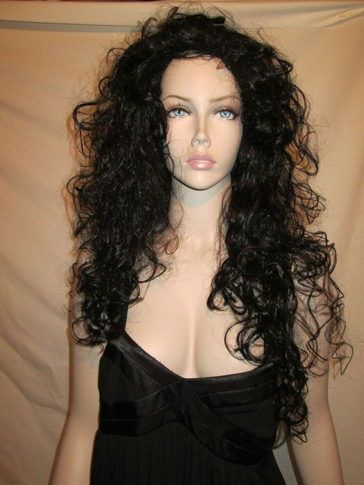 """New Westbay Quality Long Black Curly Wig 20"""" New in Box #Westbay"""