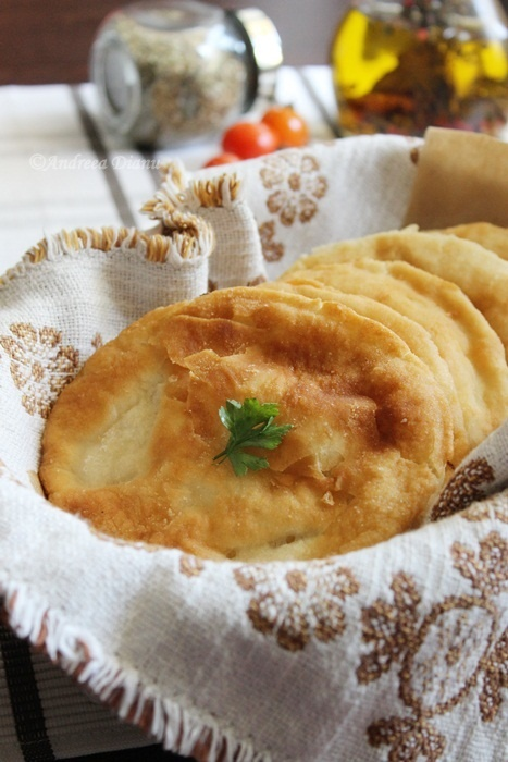 Romania Cabbage filled fried bread placinta cu varza