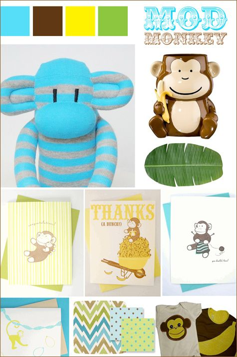 monkey theme baby shower - Google Search