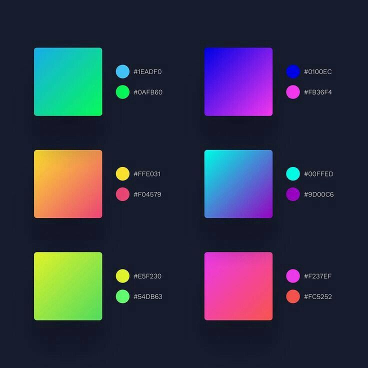 Color Hexadecimal Value Color Design Inspiration Gradient Color Design Color Palette Design