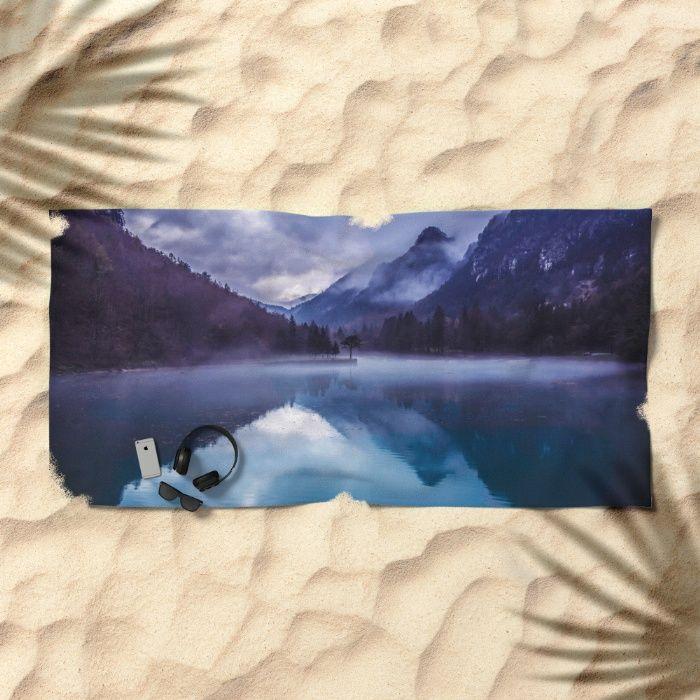 She Haunts Me Beach Towel by Mixed Imagery   Society6