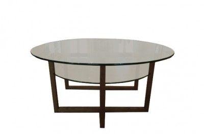 Brutus sofabord black glass round table shelf swedish design englesson www.helsetmobler.no