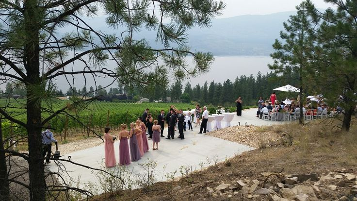 Possibly the most beautiful outdoor event location with the best view in the Okanagan Valley can now be reserved for special functions.  The 'Infinity Event Pad' is a breathtaking vista featuring a 3,000 sq-ft concrete infinity pad that visually drops into the vineyards and lake below.  It is the most stunning outdoor setting for a private chef's dinner with your friends, cocktail reception, or wedding ceremony.