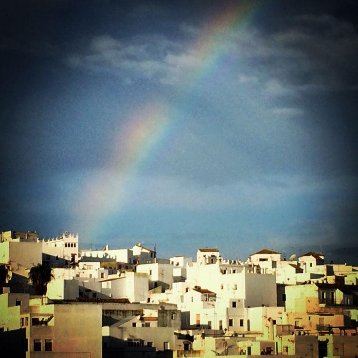 Rainbow over Vejer, Cadiz. @yaentucasa #delishop #vejer