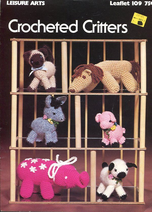 Free Us Ship Crocheted Creatures Vintage Booklet to
