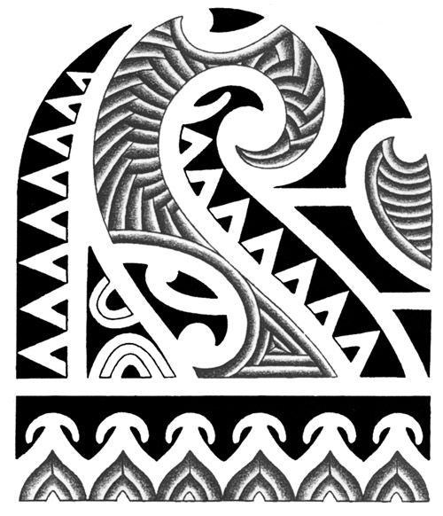 polynesian designs and patterns   For Arm Polynesian Tribal Numbers Tattoo