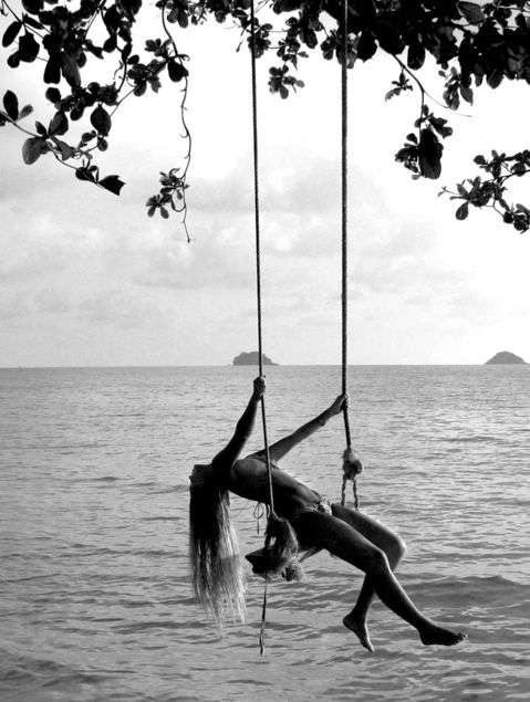 Black & White.Pink Summer, Beach Freedom, Life, Dreams, Swings, Beautiful, Summer Freedom, Black White, Summertime