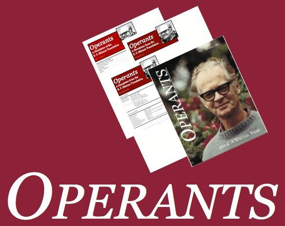 In 2014 Operants grew from a newsletter into a magazine, with correspondents from around the world bringing you articles and interviews on what is going on in behavioral science and its practical a…