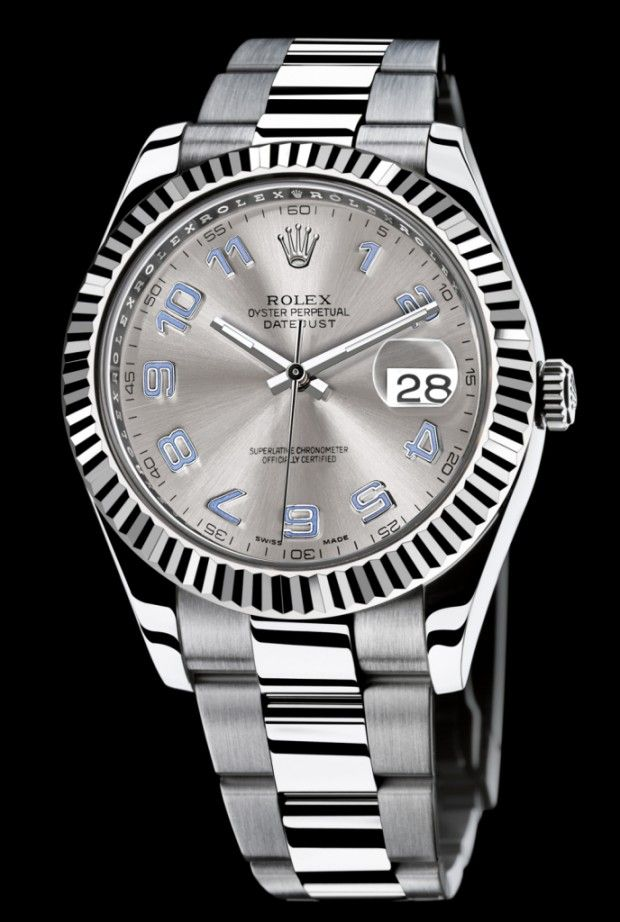 rolex datejust watch II LOVE the blue accents on the numbers