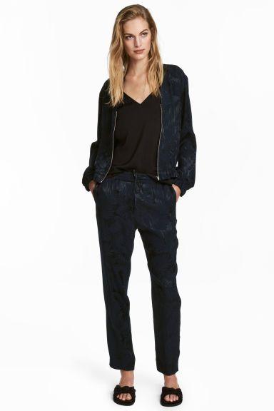 Spodnie bez zapięcia - Ciemnoniebieski/Wzór - ONA | H&M PL