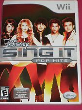 DISNEY SING IT: POP HITS Nintendo Wii karoke video game COMPLETE! ~NO MICS INCL~