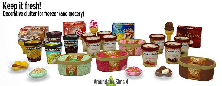 Around the Sims 4   Custom Content Download   Freezer Deco