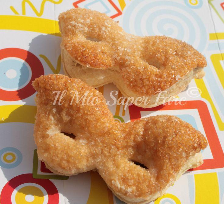 Mascherine di pasta sfoglia farcite con nutella