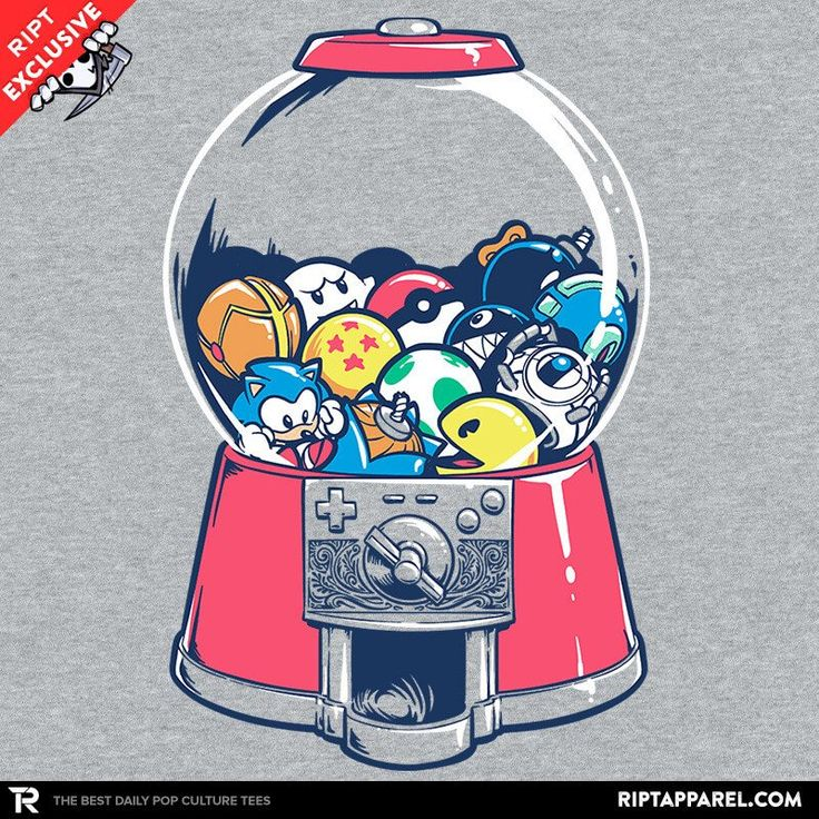 Gameball Machine T-Shirt - Gamer T-Shirt is $11 today at Ript!