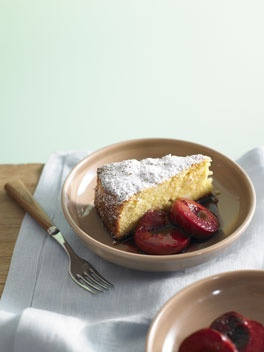 sicilian almond & ricotta cake