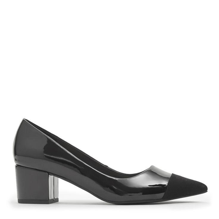 Toe Cap Low Heel Point Shoe