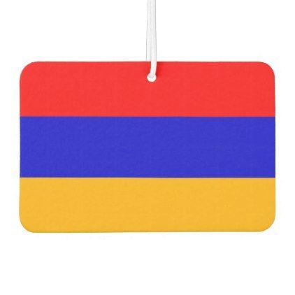 Car Air Fresheners with Flag of Armenia - elegant gifts gift ideas custom presents