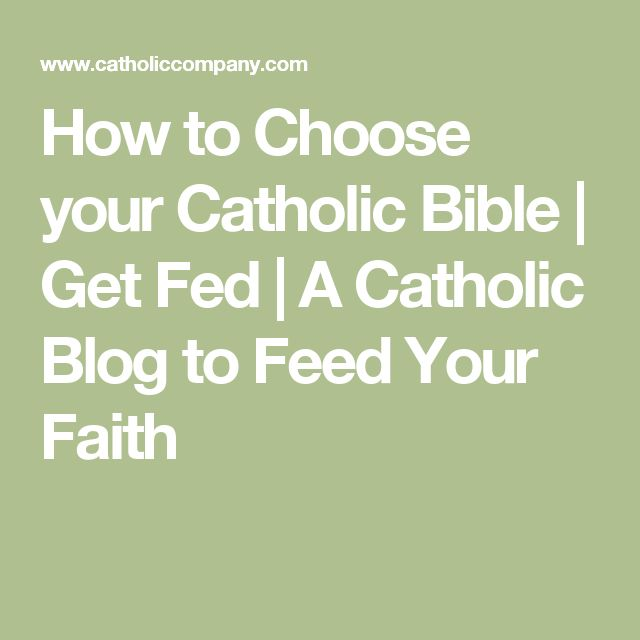 How to Choose your Catholic Bible | Get Fed | A Catholic Blog to Feed Your Faith