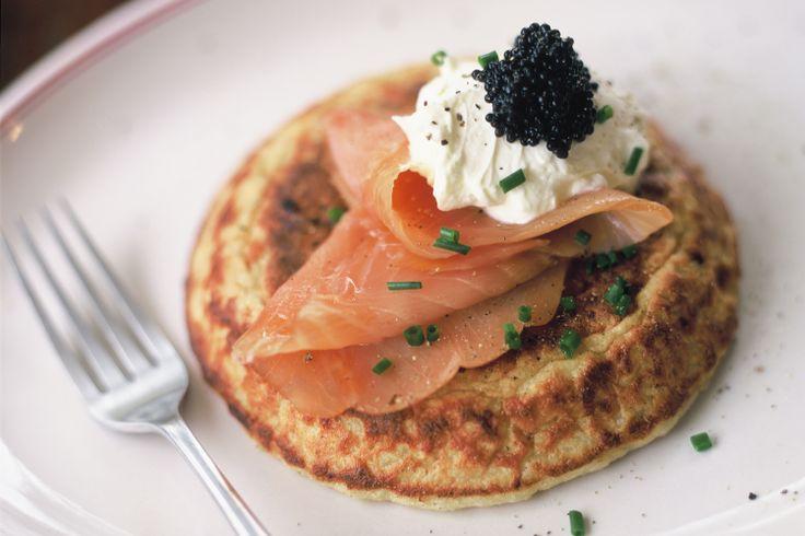 Potato Pancake with smokes salmon