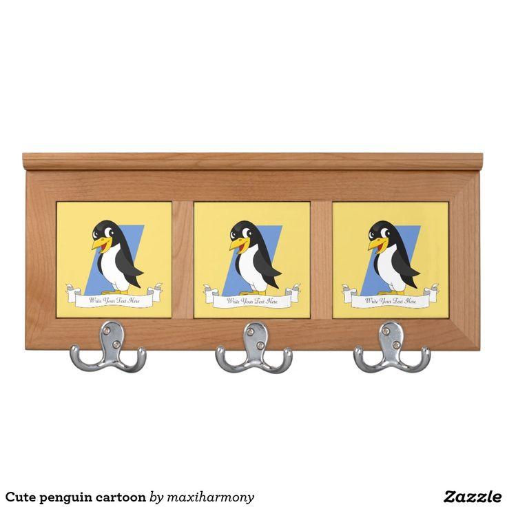 Cute penguin cartoon coat racks