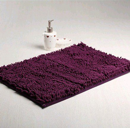 Deep Purple Washable Bath Mat Bath Rugs with Anti-slip Backing-2 Sizes Available (40*60cm) Bath Rugs http://www.amazon.com/dp/B00HS8LWVI/ref=cm_sw_r_pi_dp_559rub16H27TD
