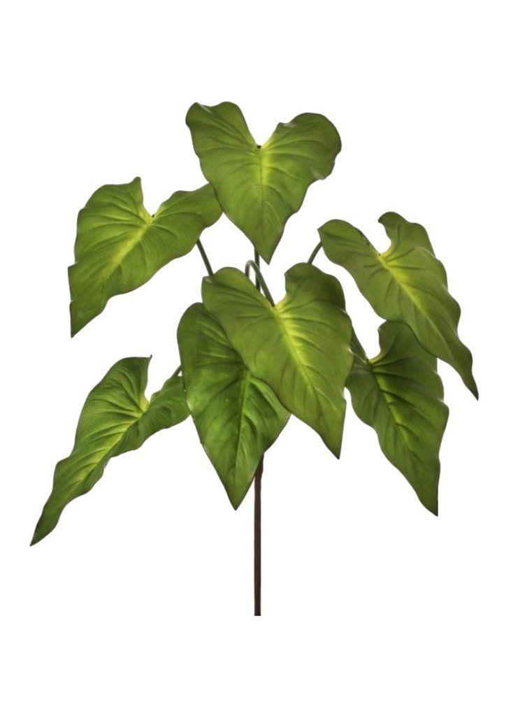 Real Touch Tropical Taro Fake Plant 27 Taro Plant Plants Fake Plants
