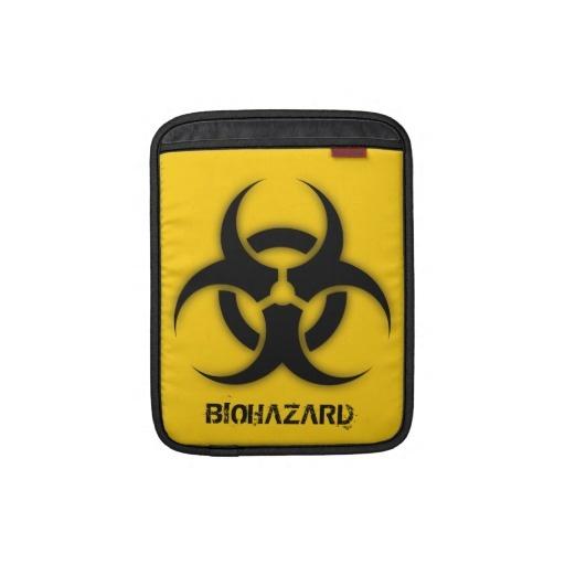 Biohazard customizable sleeve for iPads