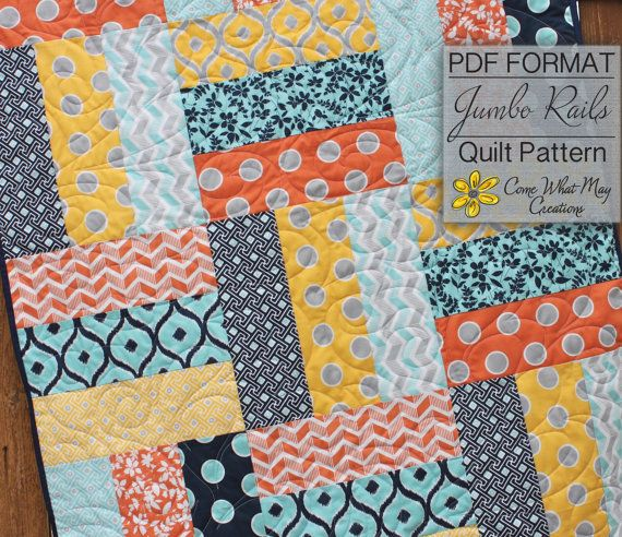 Baby Quilt Pattern Lap Quilt Pattern Jumbo by ComeWhatMayCreations