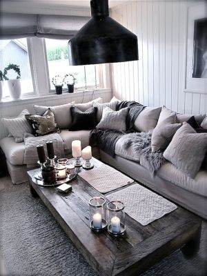 Color palette for family room - add brown leather couches for more contrast/warmth
