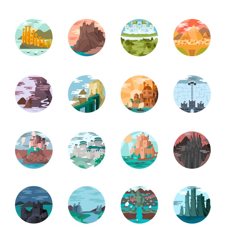 """Check out this @Behance project: """"Game of Thrones Landscapes - Illustrated icon set""""…"""
