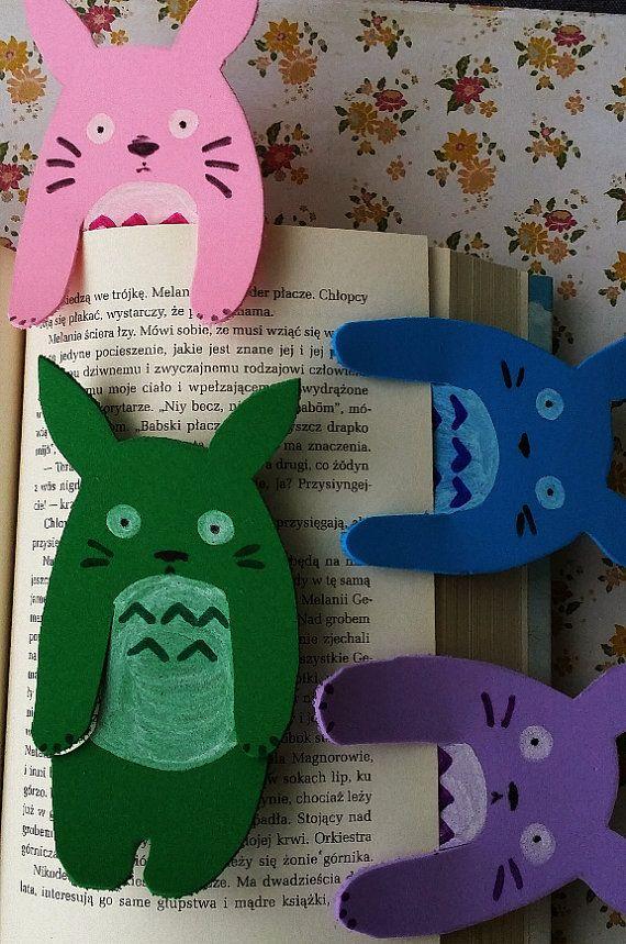 totoro foam bookmark colourful by Kats13stuff on Etsy