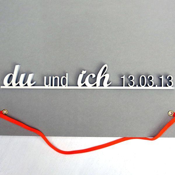 """Hochzeitsgeschenk """"du und ich"""" mit Ihrem Datum von NOGALLERY auf DaWanda.com"""