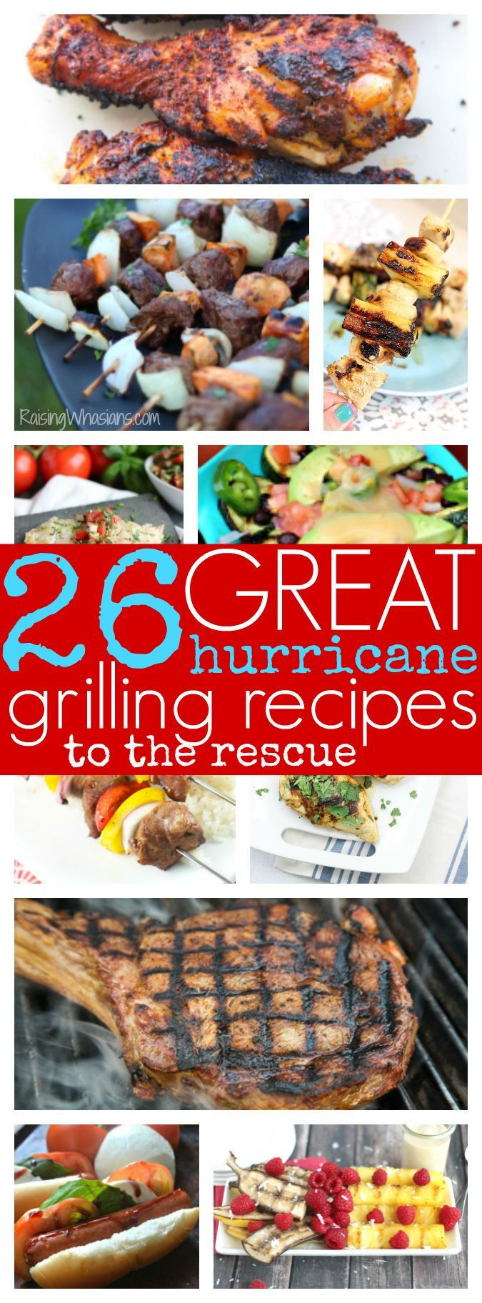 26 Hurricane Grilling Recipes to the Rescue | Don't let power outages stop you from having amazing food! Try these delicious grill recipes to keep you fed