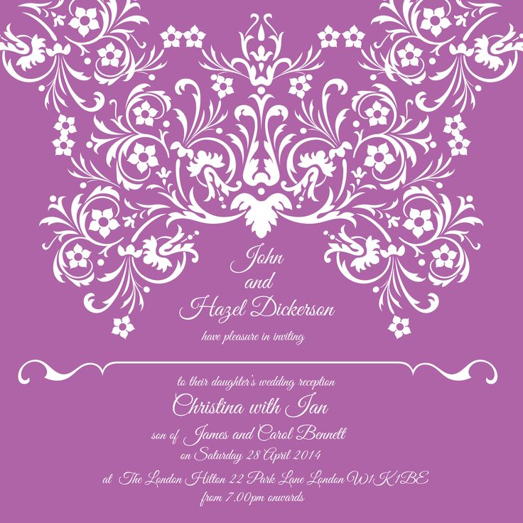 Radiant Orchid wedding invitation by Ananya | Ananyacards.com #RadiantOrchid