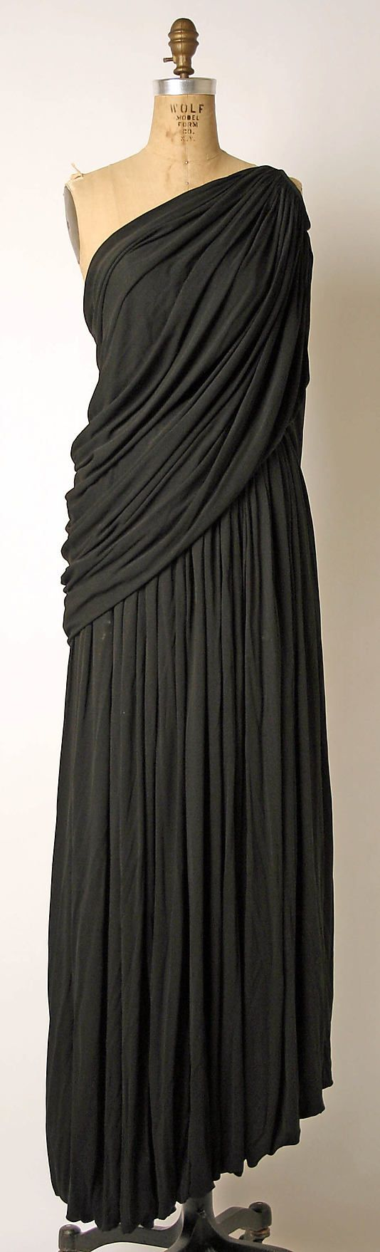 Ensemble, Evening  Madame Grès (Alix Barton)  (French, Paris 1903–1993 Var region)  Date: late 1960s–mid-1980s Culture: French Medium: silk
