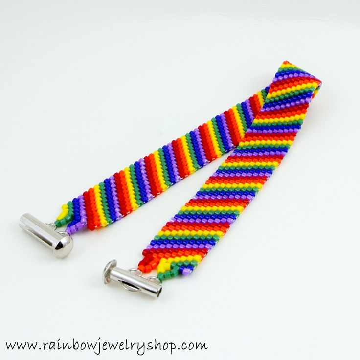 Handcrafted rainbow jewelry and Pride jewelry. Made in Peterborough, Canada using beadwork and chainmaille techniques.