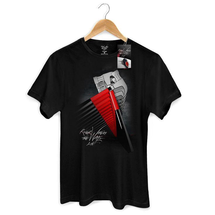 Camiseta Masculina Roger Waters Hammers Megaphone #RogerWaters #PinkFloy #TheWall #BandUPStore