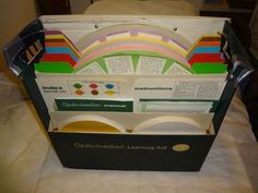 1961 World Book Encyclopedia Cyclo-teacher learning aid cycles.  We had one of these and used it often.