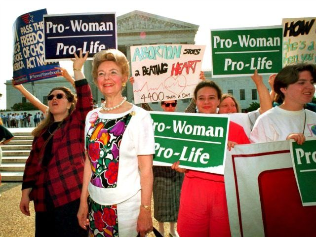 Phyllis Schlafly Pro-Life. -  She was the reason why the GOP is pro-life.