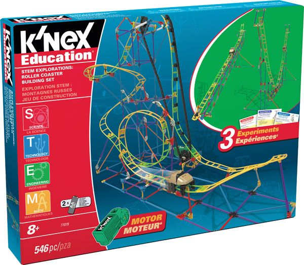 K'NEX Education STEM Explorations Roller Coaster Building Set - Explore STEM concepts while building a working Roller Coaster! Using the materials included in this set, middle-school aged children will be engaged and energized as they further their knowledge and understanding of the science, technology, engineering and math concepts associated with a real-life amusement park ride.