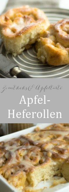 Köstliche Heferollen mit Äpfeln und Zimt - perfektes Soulfood - einfacher Hefeteig, leckere Äpfel und tolles Frosting