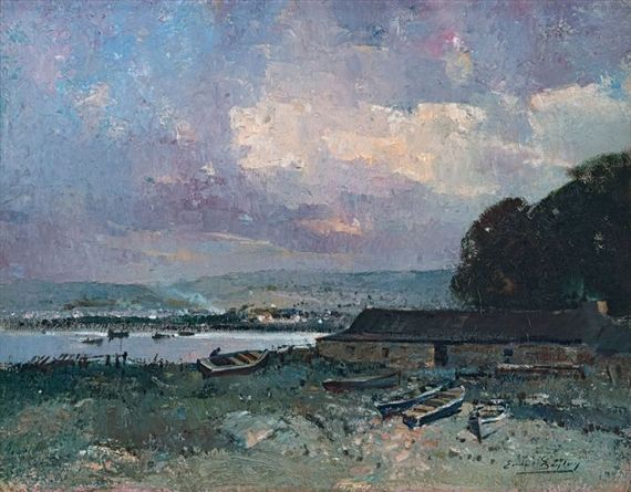 Errol Stephen Boyley - Boats on the Shore, oil on...